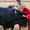 The Spanish bullfighter Anibal Ruiz. Bullfight at Real Maestranza bullring, Seville, Spain, 15 August 2006.