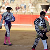 Bullfighters at the paseillo or initial parade. Bullfight at Real Maestranza bullring, Seville, Spain, 15 August 2006.