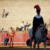 Alguacilillo or horseback official. Bullfight at Real Maestranza bullring, Seville, Spain, 15 August 2006.