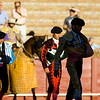 Bullfighters during the paseillo or initial parade of a bullfight, Real Maestranza bullring, Seville, autonomous community of Andalusia, southern Spain
