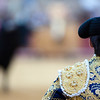 Bullfighter looking at the bull, Real Maestranza bullring, Seville, autonomous community of Andalusia, southern Spain