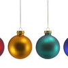 Red, Gold, Green and Blue Christmas Balls