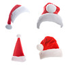 Multiple Christmas Hats Isolated on White Background