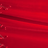 Red Christmas Beads on Velvet Background