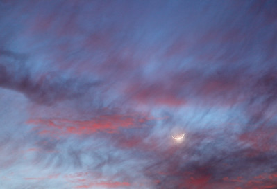 Clouds & Moon