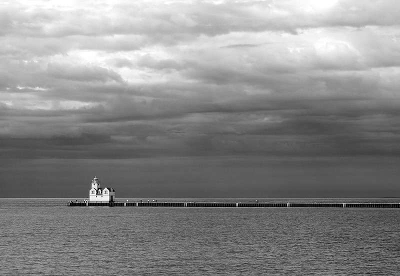 Stormy Light - Kewaunee Pierhead Lighthouse (Kewaunee, WI)