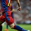 Close up of David Villa, UEFA Champions League Semifinals game between Real Madrid and FC Barcelona, Bernabeu Stadiumn, Madrid, Spain