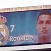 The image of Cristiano Ronaldo on the electronic scoreboard before the UEFA Champions League Semifinals game between Real Madrid and FC Barcelona, Bernabeu Stadiumn, Madrid, Spain