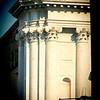 Detail from the facade of San Barnaba church, Venice, Italy