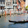Gondolier at work, Grand Canal, Venice, Italy