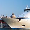 A liner prow in front of San Giorgio Maggiore, Venice, Italy