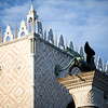 The Winged Lion on the Piazzetta in front of the Doge's Palace, Venice, Italy