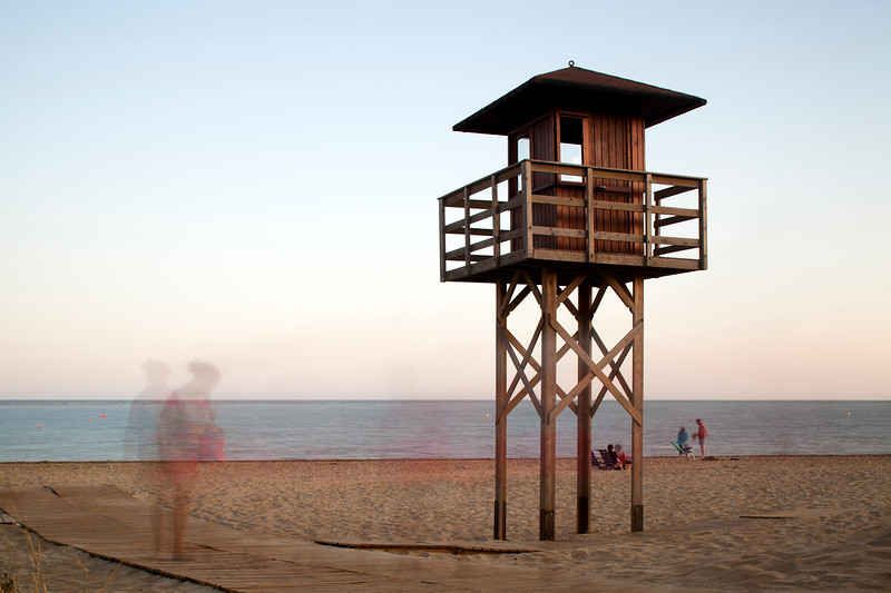 Lifeguard tower. Daylight long exposure shot by the use of neutral density filters.