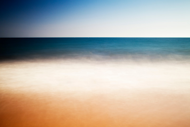 Seascape, Spain. Long exposure shot.