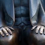 Karl Marx statue's hands, Berlin, Germany