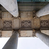Low angle view of the Reichstag portico, Berlin, Germany