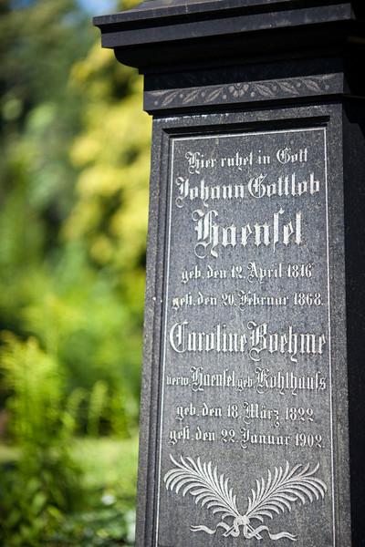 Tombstone, Jerusalem Cemetery, Berlin, Germany