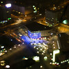 Aerial view of Alexanderplatz area from the TV Tower, Berlin, Germany. Tilted lens used for a shallower depth of field and to create, combined with the aerial view, a miniaturization effect.