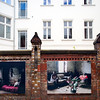 Art exhibition on a courtyard, Auguststrasse, Berlin, Germany