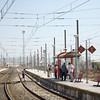 People at the railway station, El Puerto de Santa Maria, Spain