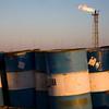 Fuel Barrels and a refinery burner