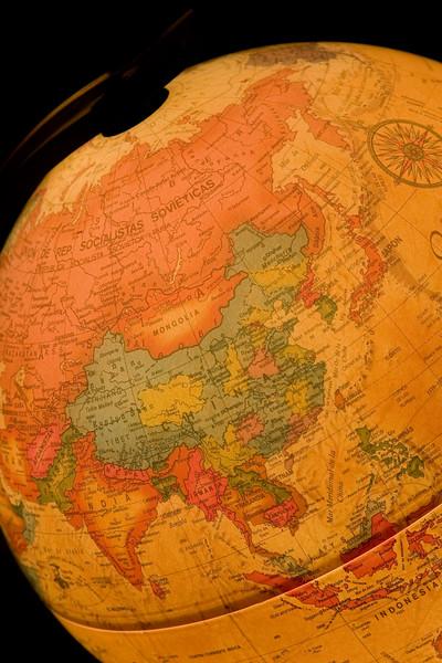 Cut out of a Desk Globe