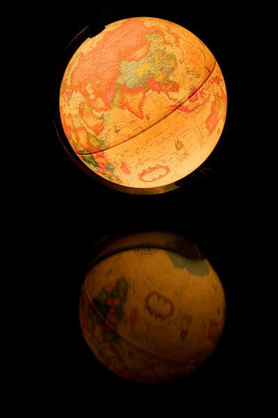 Lighted Desk Globe