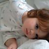 Sleepy little girl on a Sunday morning
