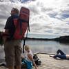 People enjoying Sognsvann lake, Oslo