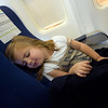 Little Girl Asleep in an Airplane Seat