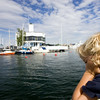 Blonde Kid Looking at the Sea from a Boat