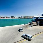Cars boarding a ferry in Algeciras, Spain