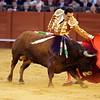 Manuel Jesus El Cid performing a natural or left-hand pass