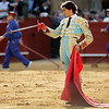 Curro Diaz after killing a bull