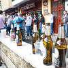 Spurs fans drinking beer on Seville streets