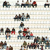 People sitting on a stadium