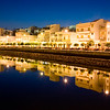 Night view of Ayamonte, Spain