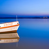 Boat on Guadiana river, Spain