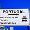 Sign in the Spanish border with Portugal