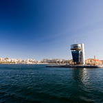 View of Ceuta seaport, Spain