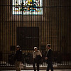 Visitors inside the Cathedral, town of Seville, autonomous community of Andalusia, southern Spain