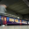 Arriving train, Saint Pancras International Station, London, England, United Kingdom