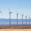Rows of windmills in wind farm
