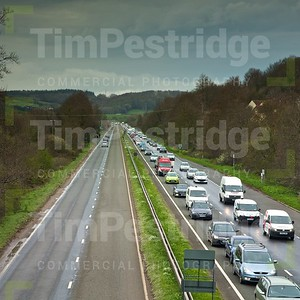 Busy traffic on dual carriageway