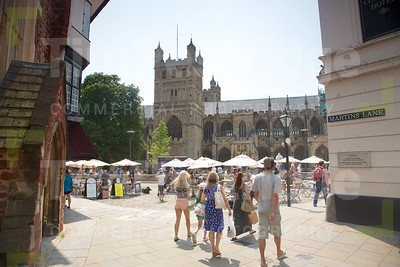Exeter Cathedral on a Summers day