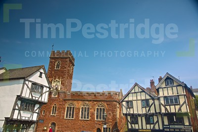 Ancient Houses in Exeter, Devon