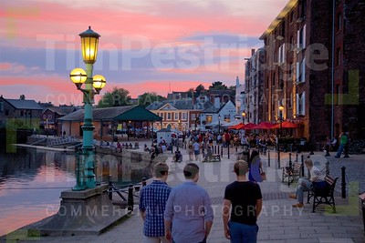 Exeter Quay dusk sunset