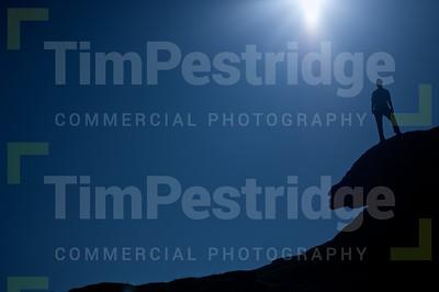 Dartmoor man silhouette