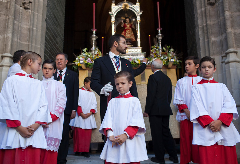 Altar boys, Corpus Christi procession, Seville, Spain, 2009.
