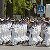 Naval forces marching. Taken in Seville (Andalusia, Spain) during a military parade of the Spanish army, 28 May 2006.